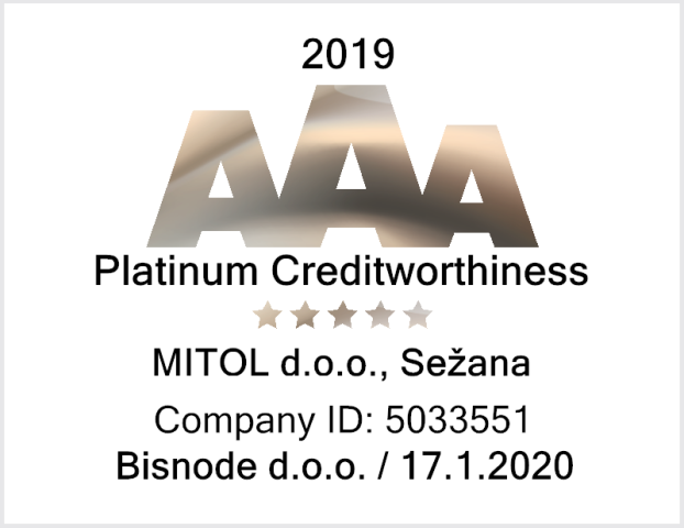 MITOL among companies with the highest creditworthiness